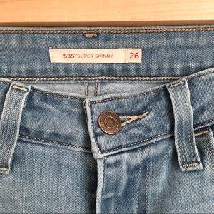 Levi's Jeans - Levi's 535 Super Skinny Denim Jeans with Stretch